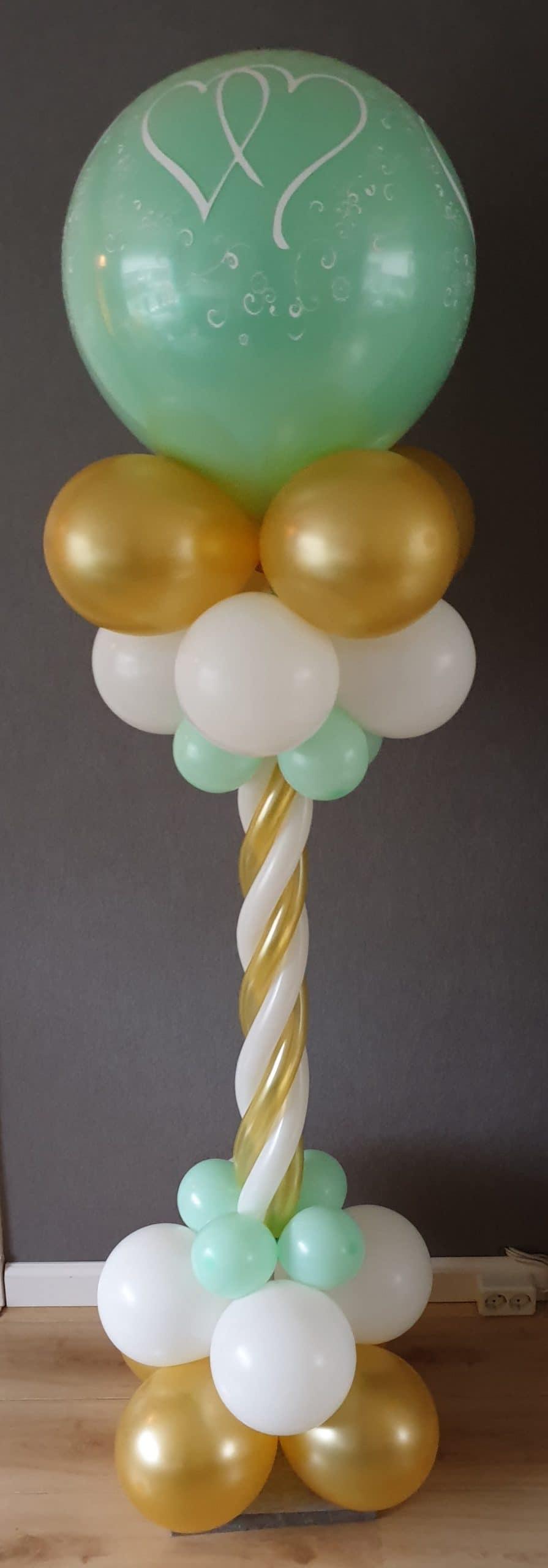 boondesigns ballondecoratie ballonpilaar twist