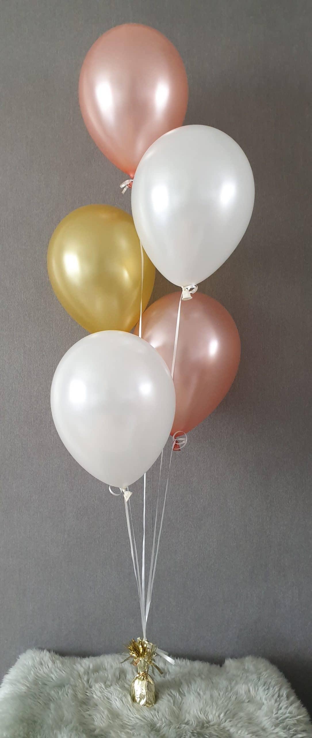 boondesigns ballondecoratie tros met 5 heliumballonnen