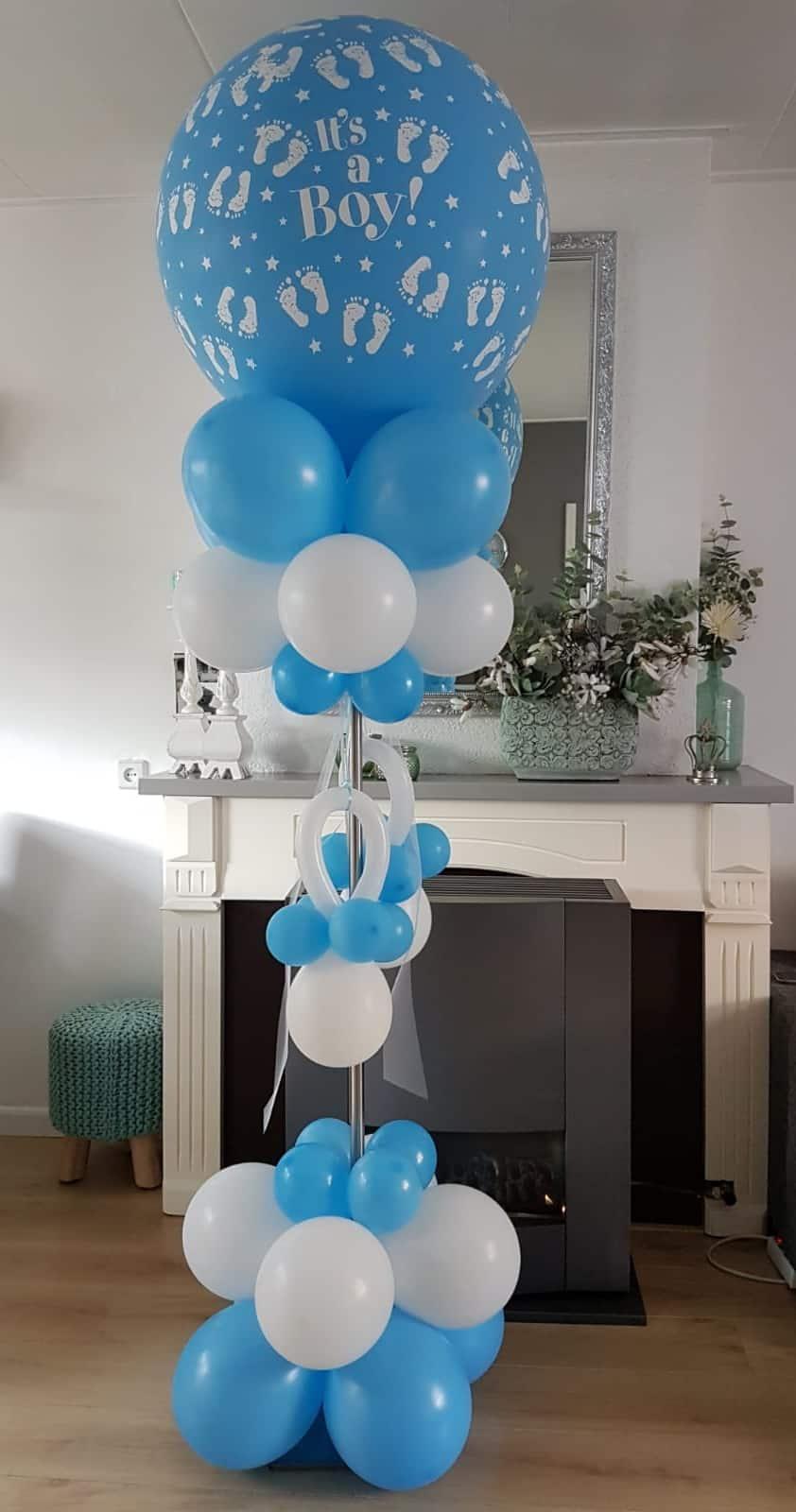 boondesigns geboorte-aankondigingen geboorte pilaar ballonnen