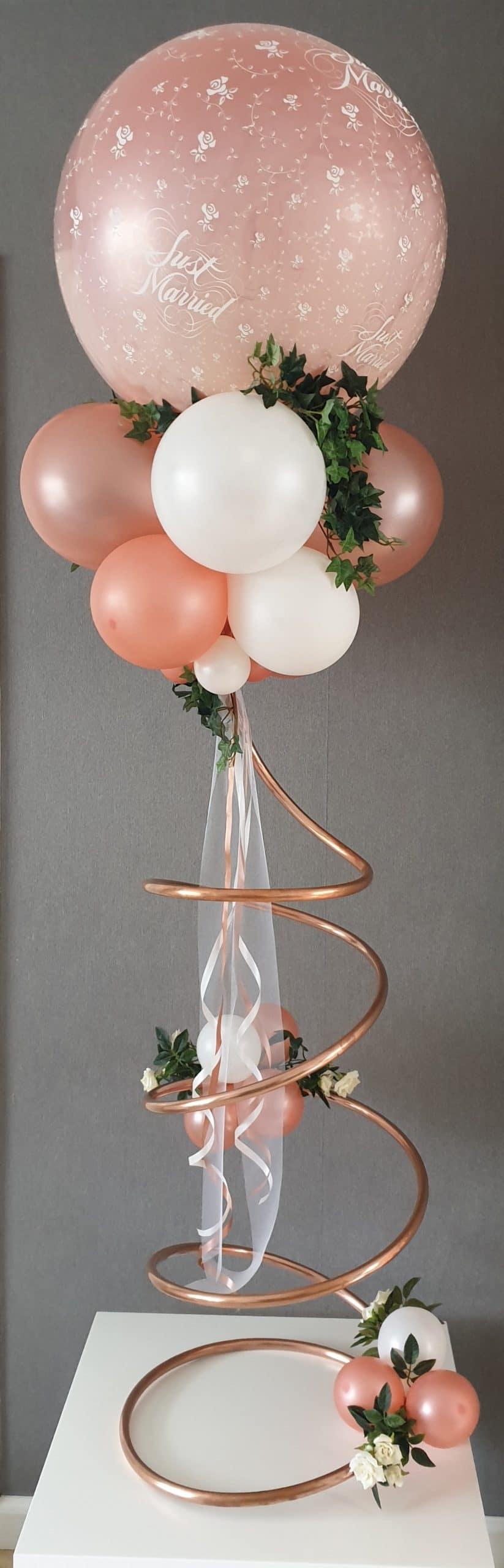 boondesigns ballondecoratie pilaar spiraal