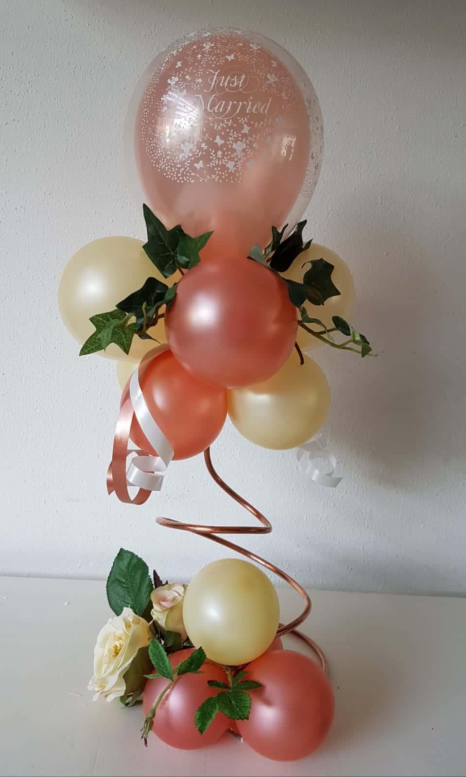 boondesigns ballondecoratie tafelstukje spiraal