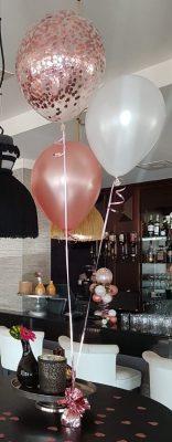 boondesigns ballondecoratie tros met 3 heliumballonnen