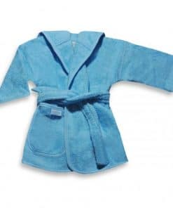 badjas uni line blauw 0-12mnd