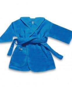 badjas uni line turquoise 0-12mnd