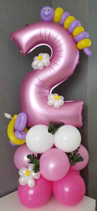 boondesigns ballondecoraties kinderverjaardag 2 jaar