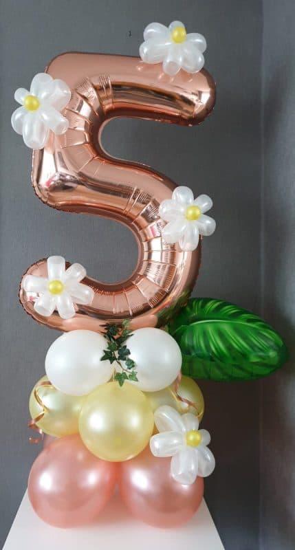 boondesigns ballondecoraties kinderverjaardag 5 jaar