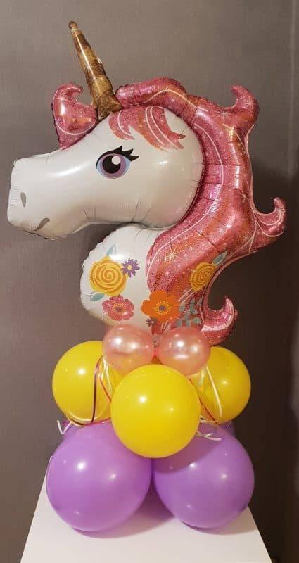 boondesigns ballondecoraties kinderverjaardag eenhoorn