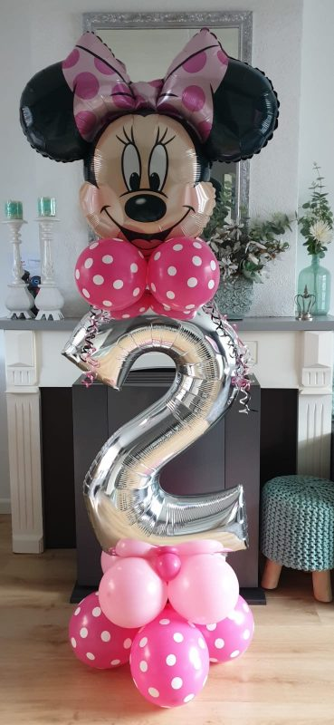 boondesigns ballondecoraties kinderverjaardag minnie mouse