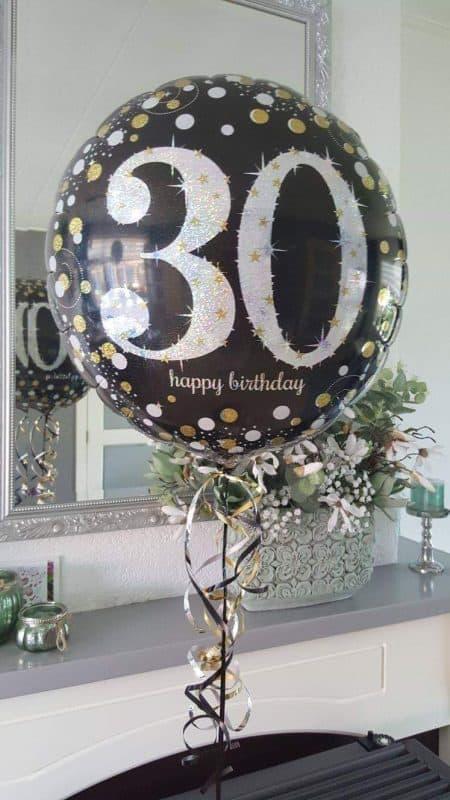 boondesigns ballondecoraties topballon 30 jaar