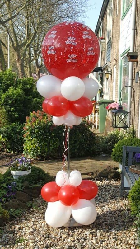 boondesigns ballondecoraties verjaardag ballon pilaar