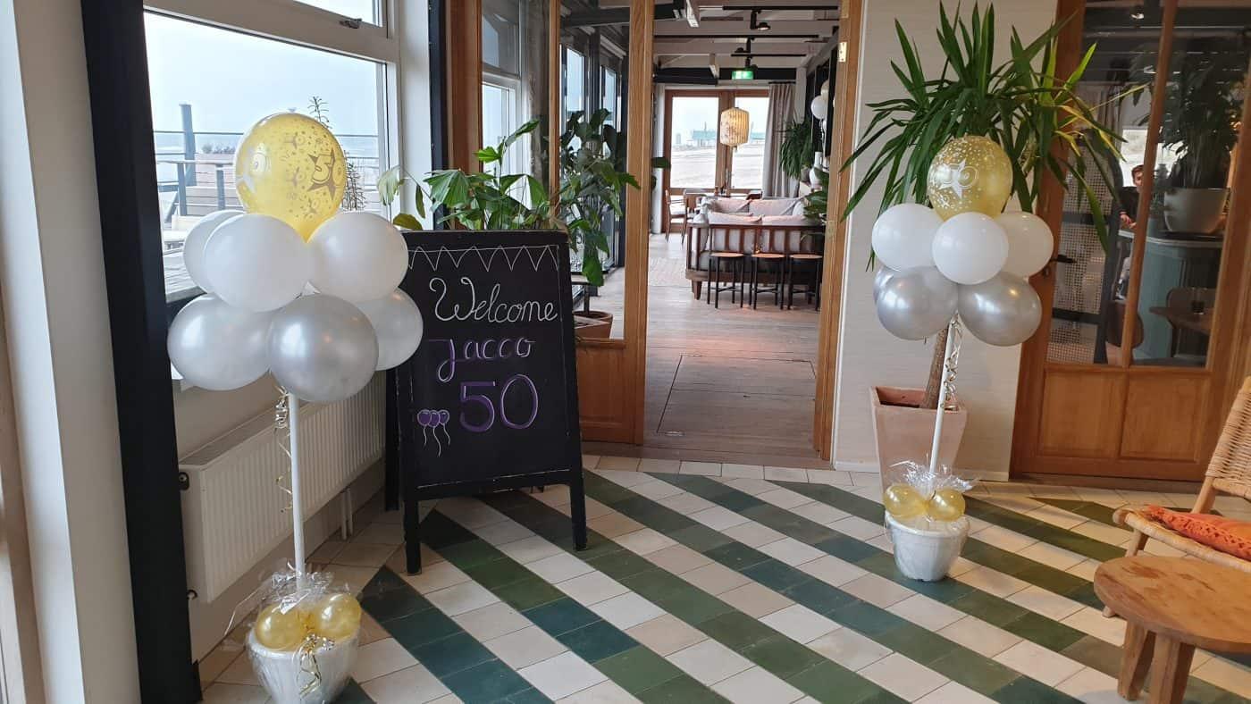 boondesigns ballondecoraties verjaardag ballonboompjes 50 jaar