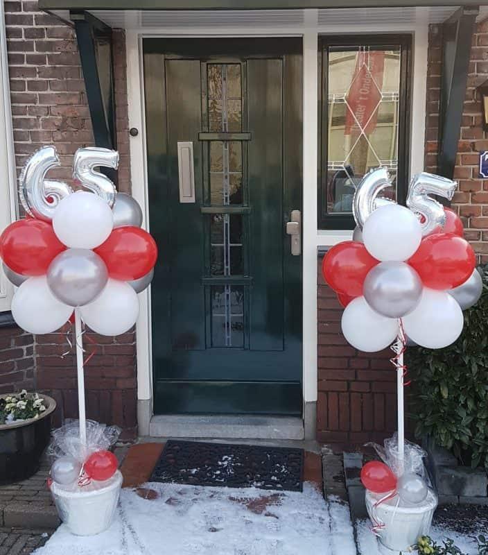 boondesigns ballondecoraties verjaardag ballonboompjes 65 jaar