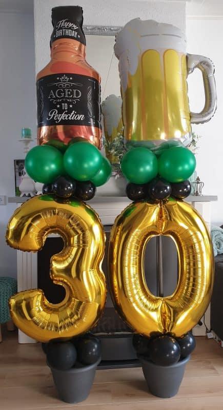 boondesigns ballondecoraties verjaardag bier ballon