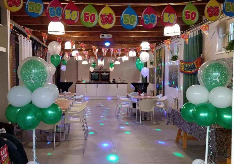 boondesigns ballondecoraties verjaardag feestzaal