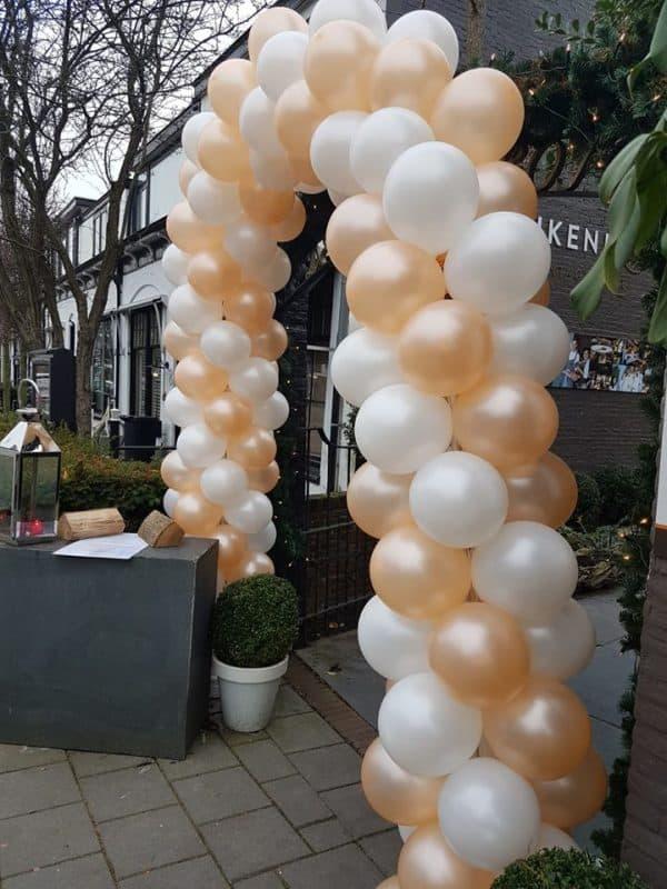 boondesigns bedrijfsopening huwelijk ballonnenboog