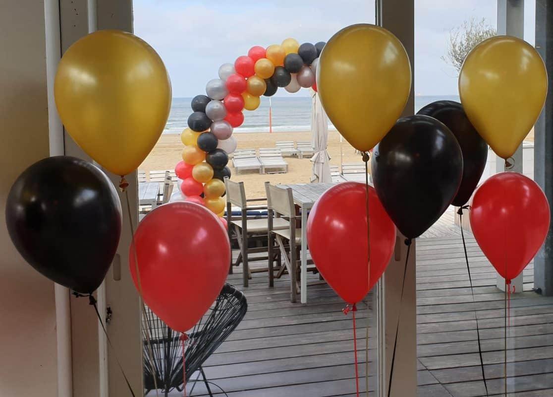 boondesigns bedrijfsopening ballonnentrossen ballonnenboog
