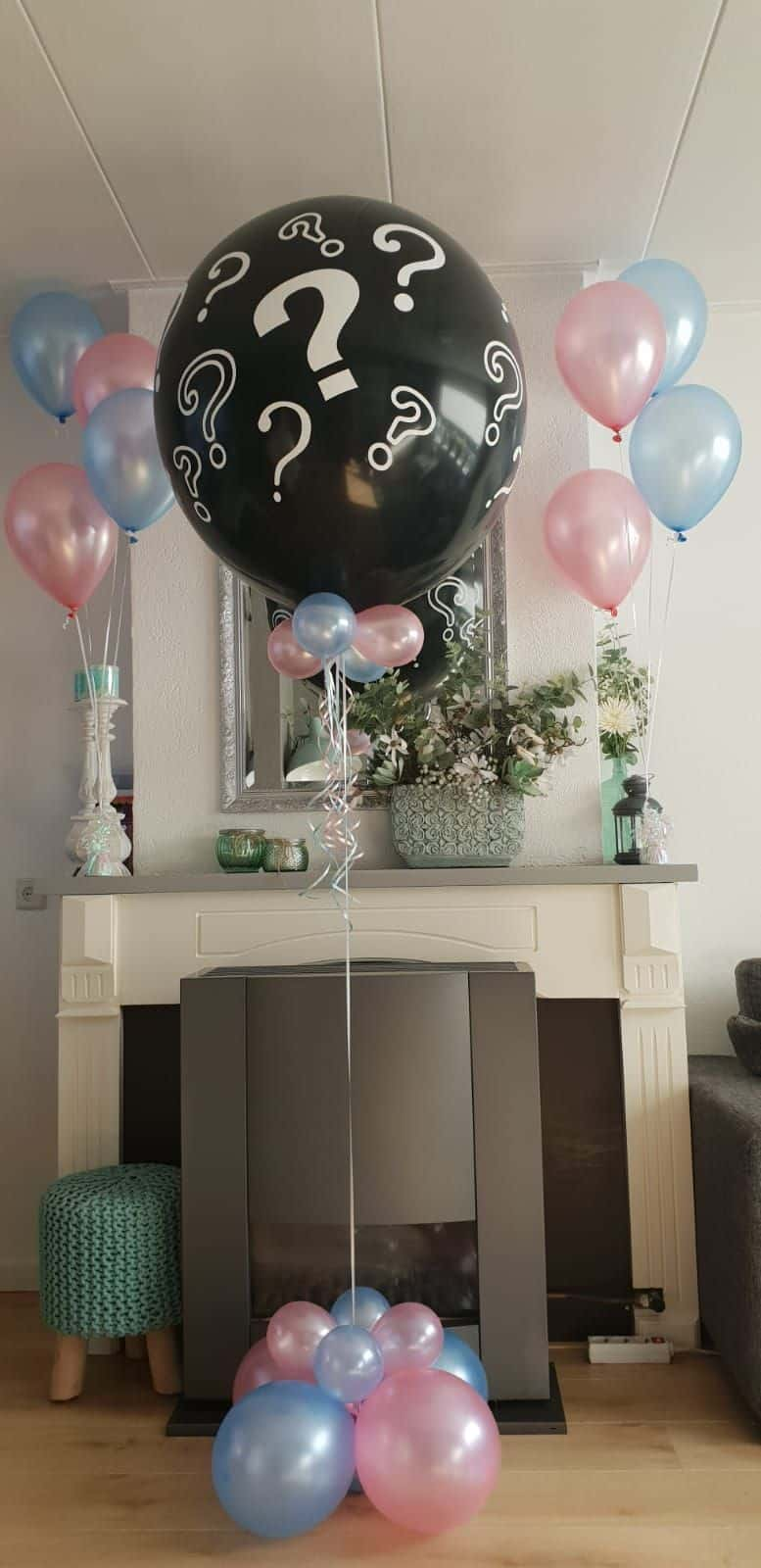 boondesigns geboorte-aankondigingen gender reveal ballon