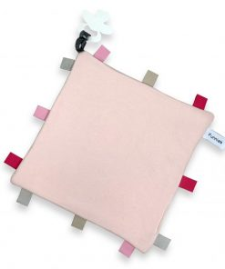 labeldoekje speen blush 100% katoen 25x25cm